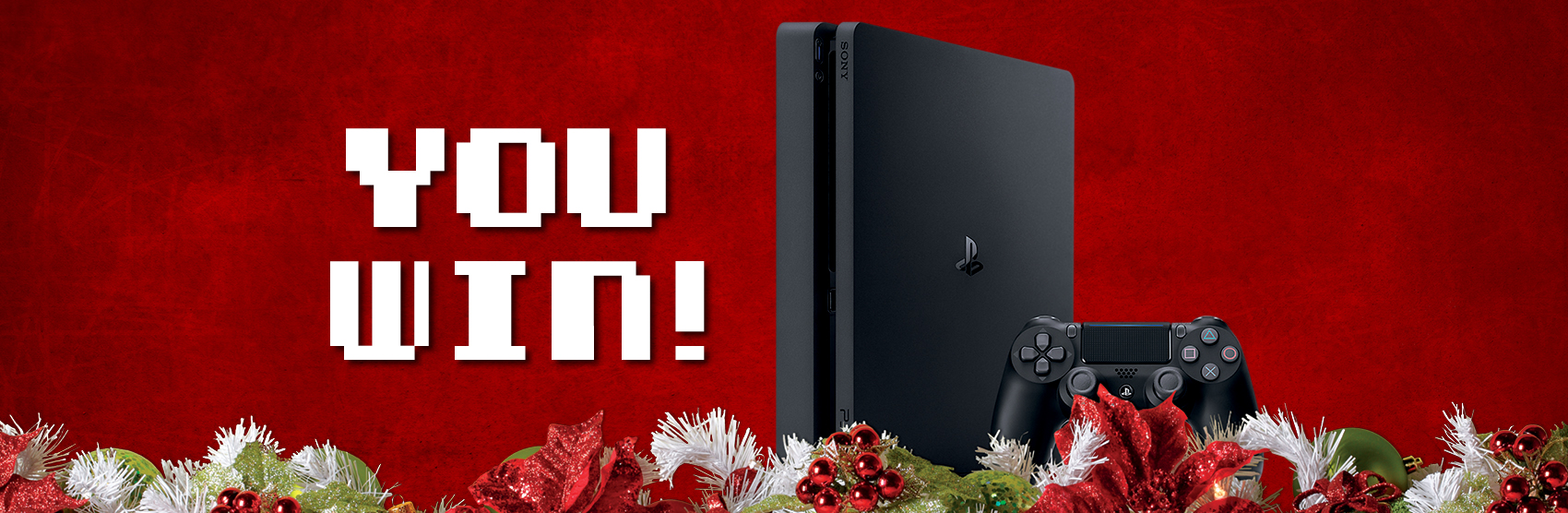 Holiday imagery with PlayStation 4 device