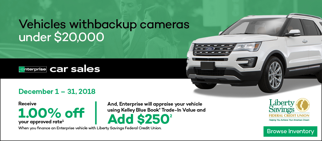 Enterprise car sales banner with member offer
