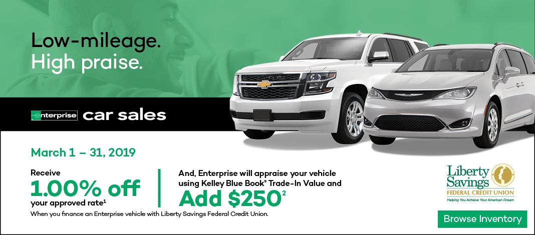 Clickable banner image with current Enterprise Car Sales promotion