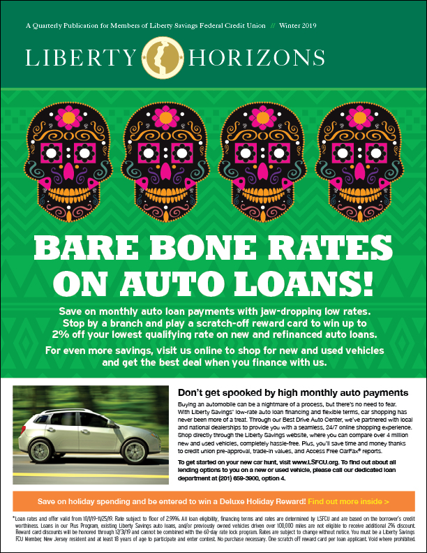 Day of the Dead Auto Loan graphic with promotion