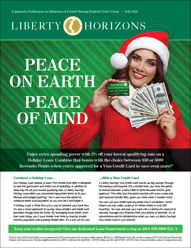 Woman holding Visa Rewards Credit Card and money wearing a santa hat to promote the new holiday spending buyndle