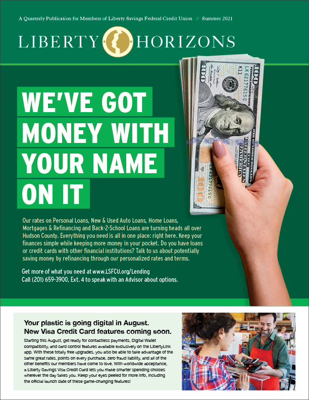 Hand holding $100 dollar bills with headline copy promoting lending products